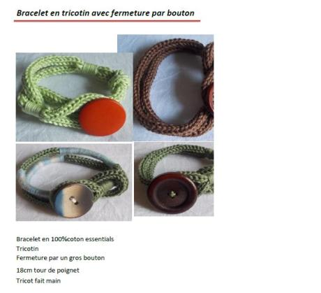 Bracelet tricotin